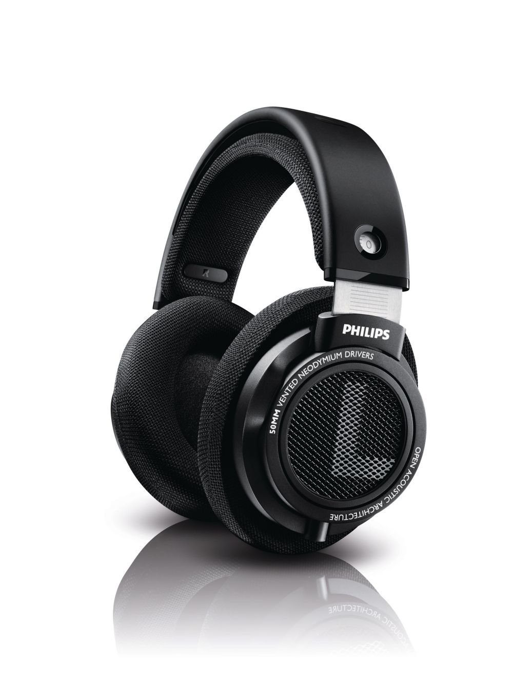 Philips SHP9500 HiFi Precision Stereo Over-Ear Headphones (Black) by Philips Audio