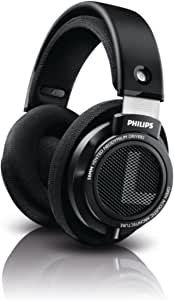 Philips Audio SHB9500//00 Hifi Precision Stereo Over-Ear Headphones, Black Wired | 50mm Drivers