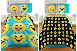 Twin Emoji Bed in a Bag Emoji Reversible Microfiber Girls Comforter - Twin / Full