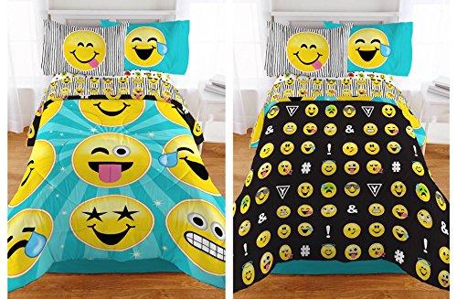 emoji reversible microfiber girls comforter