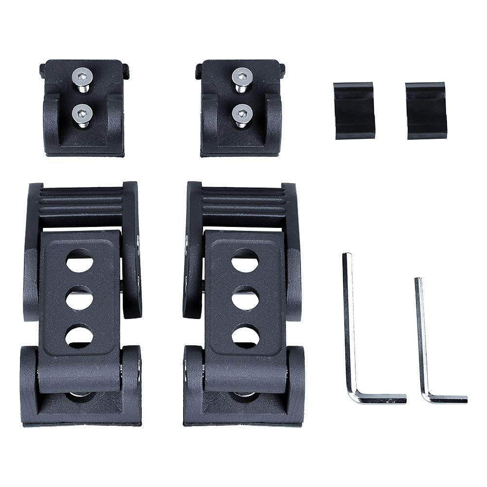 Stainless Steel Hood Latches Lock Catch Kit Compatible with Jeep Wrangler 07-18 JK /& JK Unlimited 18-19 JL /& JL Unlimited Black, Aluminum