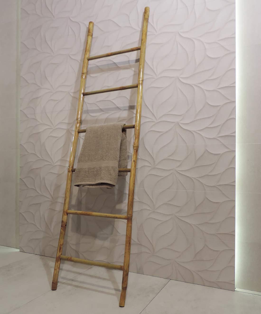 chambre /Échelle Porte-serviette en bois en bambou pour salle de bain
