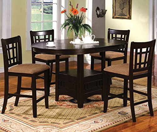 Contemporary Counter-Height Dining Table Set with Four Chairs
