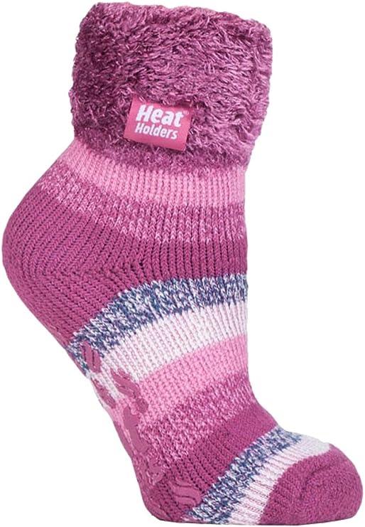 Heat Holders - Mujer Invierno Cómodo Confortables Durable Térmico Diseño Caliente Fantasia Colores Gruesa Calcetines para Frío Clima