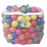 Click N' Play 0005A Pack of 100 Phthalate Free BPA Free Crush Proof Plastic Ball, Pit Balls-6 Bright Colors in Reusable and Durable Storage Mesh Bag with Zipper