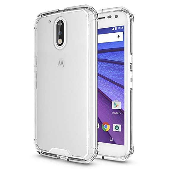 cheap for discount 30367 17bc5 Moto G4 Case, iThrough Moto G4 Soft TPU Case Crystal Clear Transparent Slim  Anti Slip Case Back Protector Cover Shockproof for Moto G4 (Transparent)