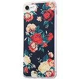 イングレム iPhone7ケース TPUケース+背面パネル オリジナルデザイン/花柄1  IJ-P7TP/AK046