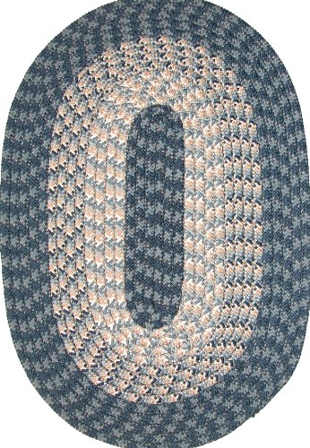 Hometown 5' x 8' Braided Rug in Blueberry