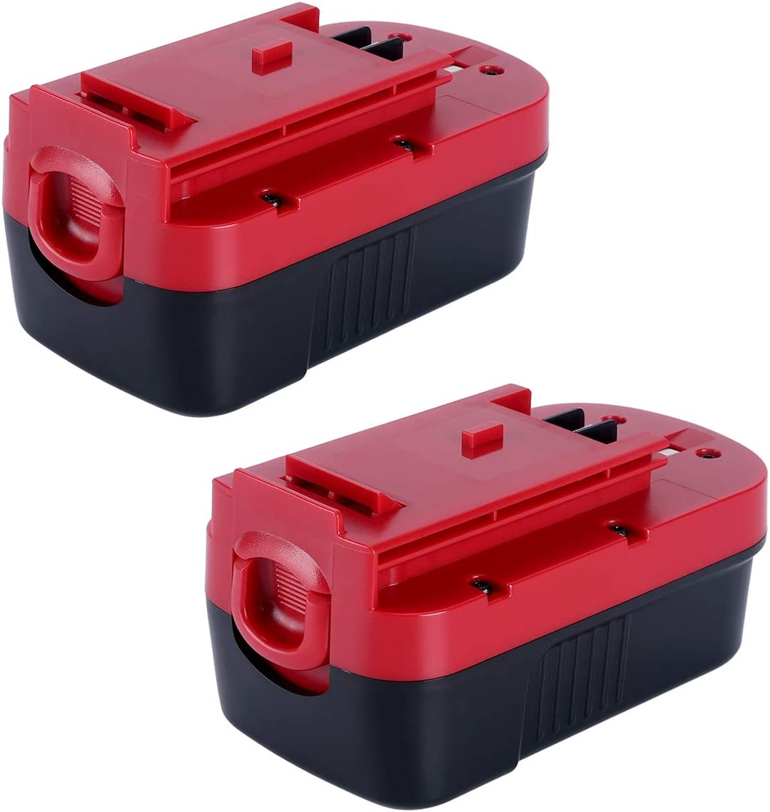Lasica Upgraded 2Pack 3500mAh 18V HPB18 NI-CD Battery Replacment for Black and Decker HPB18-OPE 244760-00 A1718 A18 A18E Firestorm FS180BX FS18BX FS18FL FSB18 NST2118 Black and Decker 18v Battery