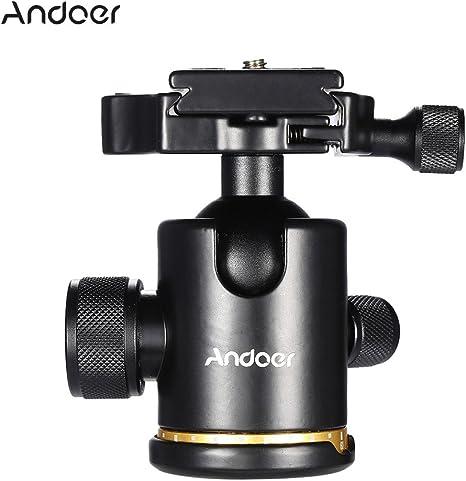 Andoer Rótula Ballhead Metal 360 Grados Giratoria Panorámica con 1 ...