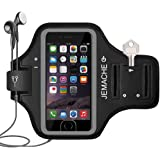 iPhone 7/7 Plus Armband, JEMACHE Fingerprint Touch Supported Gym Running Workout/Exercise Arm Band Case for iPhone 6/6S/7/7 Plus with Key/Card Holder