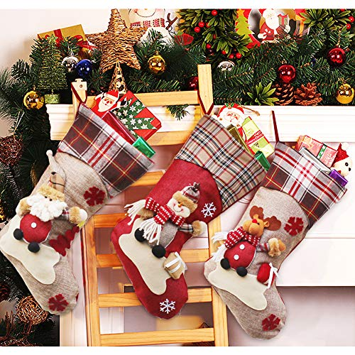 Dreampark Christmas Stockings, Big Size 3 Pcs 18