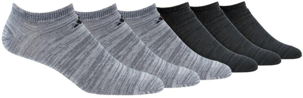 adidas Men's Superlite Low Cut Socks (6-Pair), Onix - Clear Onix Space Dye/Black Black - Night Grey S, XL, (Shoe Size 12-16) by adidas