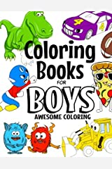 Coloring Books For Boys Awesome Coloring: For Boys Aged 4-8 Paperback