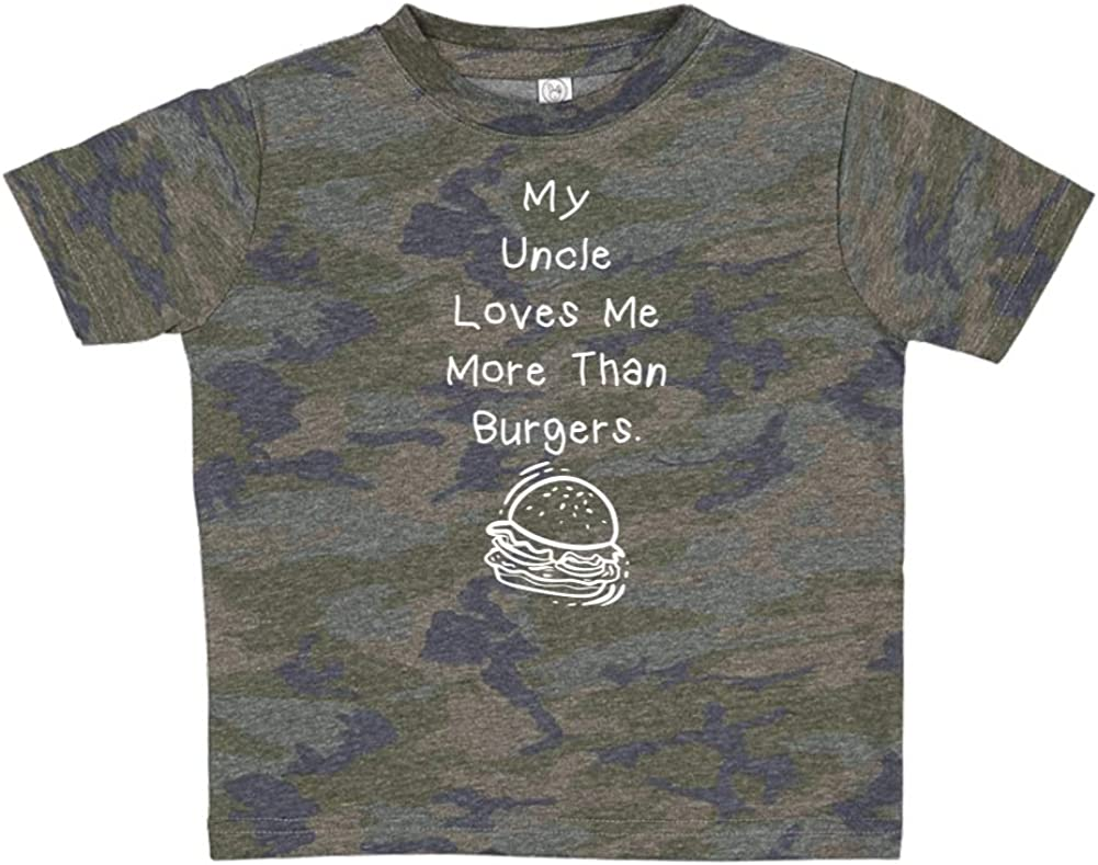 Toddler//Kids Short Sleeve T-Shirt My Uncle Loves Me More Than Burgers