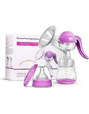 Sacaleches Manual - Extractor de leche Mano con Cojín de Masaje sin BPA (púrpura)