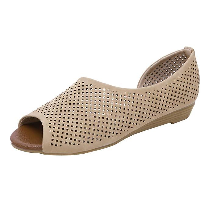 ZARLLE Sandalias cuña Mujer Verano 2019 Sandalias de Verano Pescado Boca Cuñas Zapatos Sandalias de Mujer Zapatos cómodos para la Madre: Amazon.es: Ropa y ...
