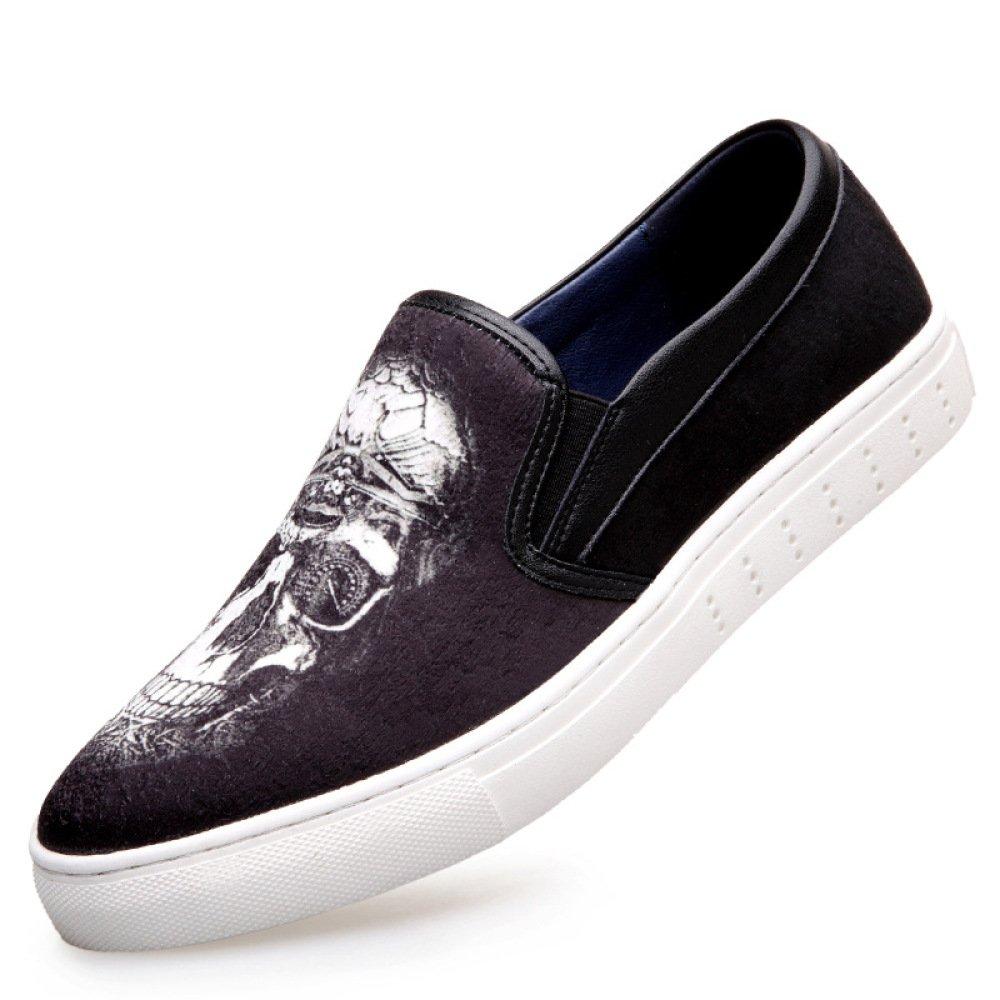 Los Zapatos De Los Hombres De Color Juvenil Patrón De Tendencia De La Tendencia De Los Zapatos Silvestres Cómodos Zapatos De Lona 40 EU|C