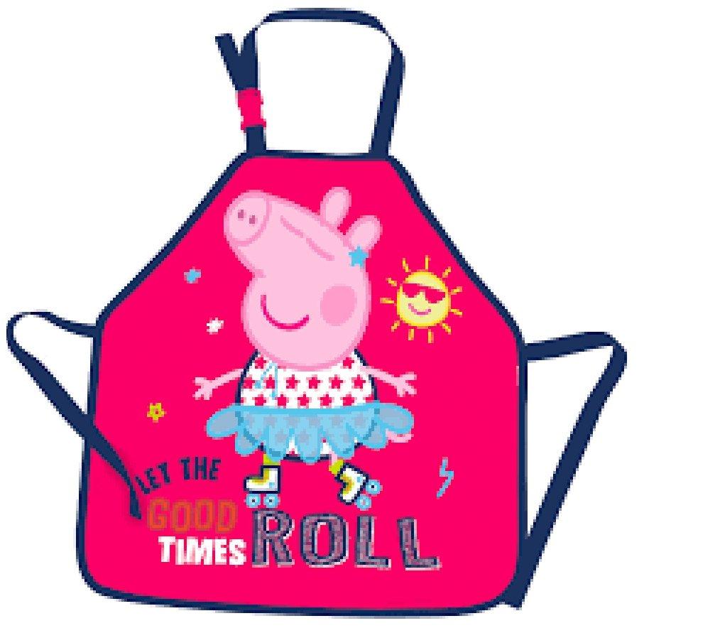 Peppa Pig Malschürze Schürze Kinderschürze pink + Sticker von Kids4shop