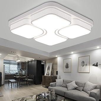 Myhoo 64w Led Deckenleuchte Deckenlampe Kaltweiß Modern Wohnzimmer