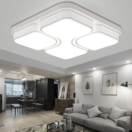 MYHOO 64W LED Blanco Cálido Luz de techo Diseño de moda moderna plafón,Lámpara de Bajo Consumo Techo para Dormitorio,Cocina,oficina,Lámpara de sala de ...