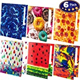 Premium 2 Pocket Laminated Folders 6 Pack. Our 3 Hole, 12-1/2 x 9-1/2 inch Portfolios Fit Easily Into Any Students Standard School Trapper Keepers Or Binders. Essential Supply for Homework and Notes