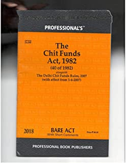 Chit Funds Act 1982 Ebook Download