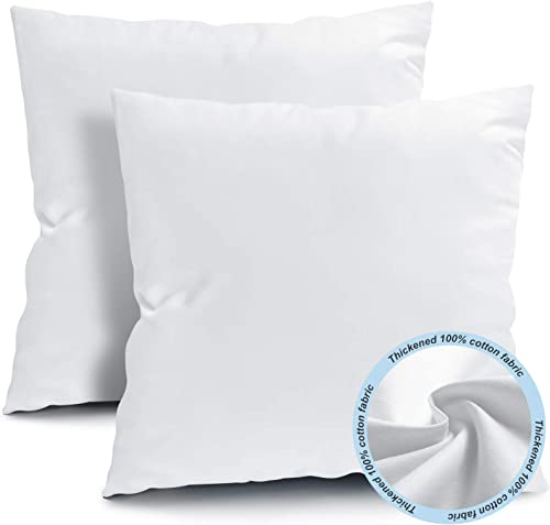 Fixwal 16×16 Inches Outdoor Throw Pillow Inserts