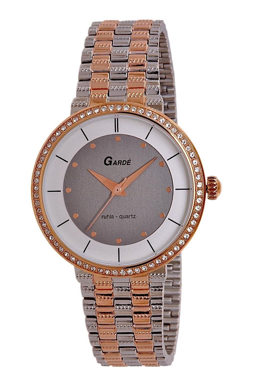 Garde (by Ruhla) Uhr Damen Edelstahl Armbanduhr Modell Elegance 73141 mit Similisteinen