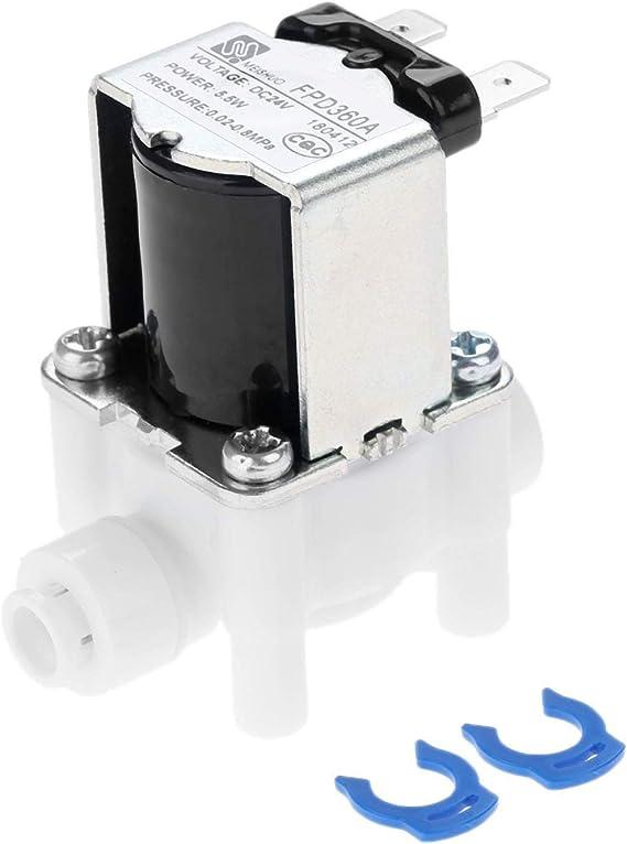 Válvula de agua eléctrica AC 24 V DC válvula de solenoide conexión ...