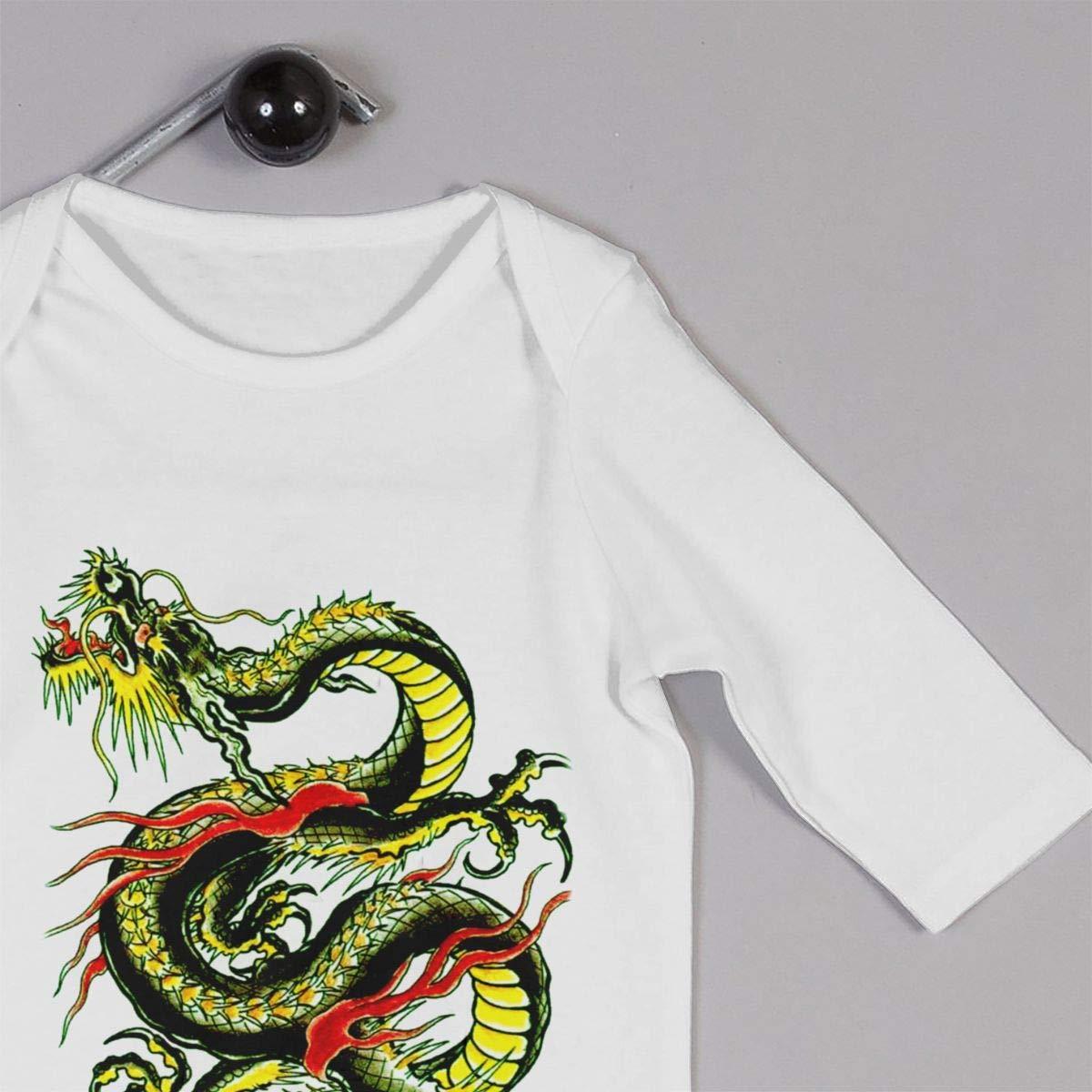 Babys Long Sleeve Romper,Flying-Dragon Jumpsuit Bodysuit Clothes