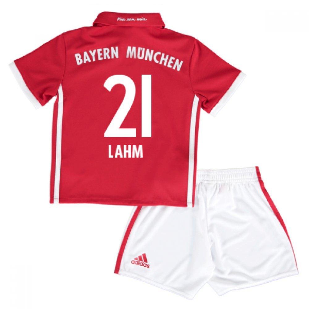 2016-17 Bayern Munich Home Mini Kit (Lahm 21) B0785PMN4RRed 3-4 Years
