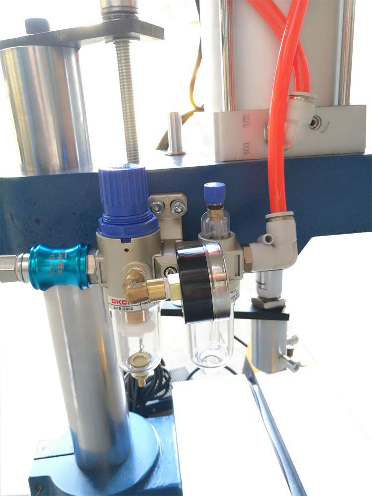 TECHTONGDA Pneumatic Punch Press Transfer Machine Cylinder Stroke for Sheet Metal Hole 440 Pounds Pressure