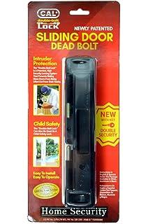 Black double bolt patio door lock by cal tech amazon cal double bolt lock black high security for sliding glass doors child planetlyrics Choice Image