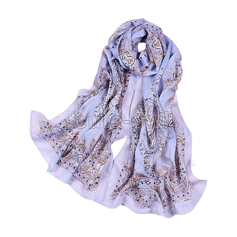 New Fashion Lady Girls Paisley Long Soft Chiffon Scarf Wrap Shawl Stole Scarves
