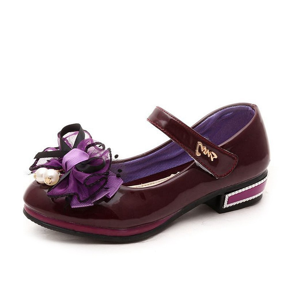 Toddler//Little Kid CYBLING Girls Patent Leather Mary Jane Princess Dressy Ballet Shoes