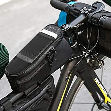 A-Qnice Bolsa para Bicicleta, Porta Ciclismo Pannier Estuche para ...