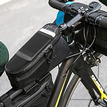 A-Qnice Bolsa para Bicicleta, Porta Ciclismo Pannier Estuche ...