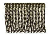 5.4 Yard Value Pack of 6 Inch Long Bullion Fringe Trim, Style# DB6 - Olive Green, Light Gold, White - Olive Garden 010 (16 Ft / 5 Meters)