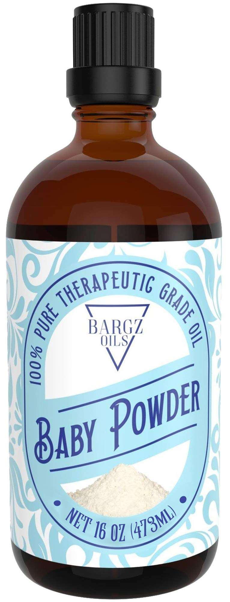 Baby Powder Essential Oil [RELAXING SCENT] - Glass Amber Bottle with Dropper Organic Pure Therapeutic French for Diffuser, Aromatherapy, Headache, Pain, Sleep-Perfect For Candles & Massage (16 oz)
