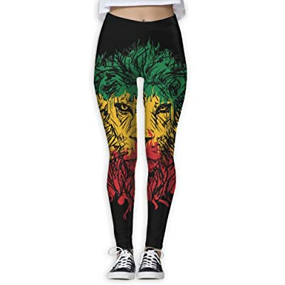 Reflex Rasta Lion Women's Stretchable Sports Running Yoga Workout Leggings Pants