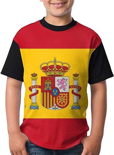 Camiseta clásica Bandera de España para niños Adolescentes Camiseta Divertida: Amazon.es: Ropa y accesorios