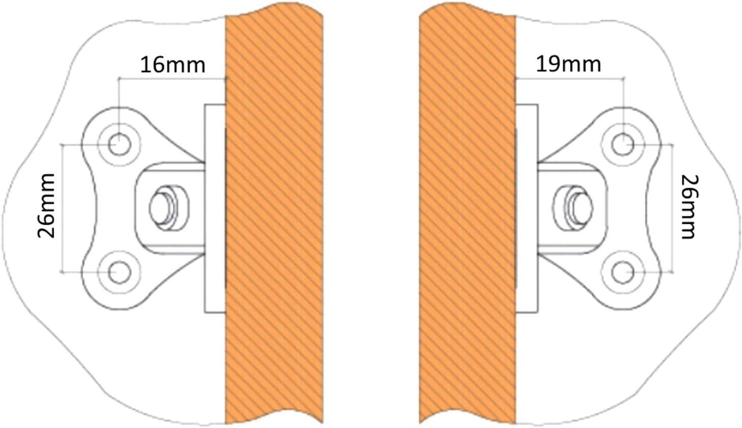 10 Escuadras de /ángulo racor refuerzo pl/ástico para ensamblaje de muebles panel C41530 AERZETIX