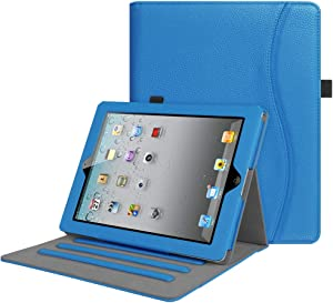 Fintie Case for iPad 2 3 4 (Old Model) 9.7 inch Tablet - [Corner Protection] Multi-Angle Viewing Smart Stand Cover with Pocket, Auto Sleep/Wake for iPad 2/3 & iPad 4th Gen Retina Display, Royal Blue