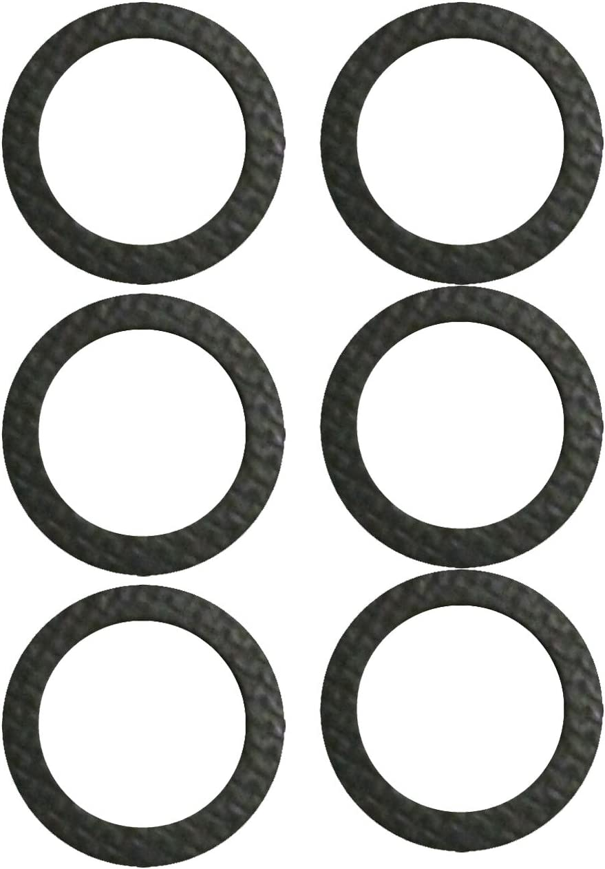 Mission Automotive 6-Pack Marine Drain Screw Gasket - Compatible with Most Lower Units and Seawater Pumps - Comparable to Sierra International (TM) 18-2945-9