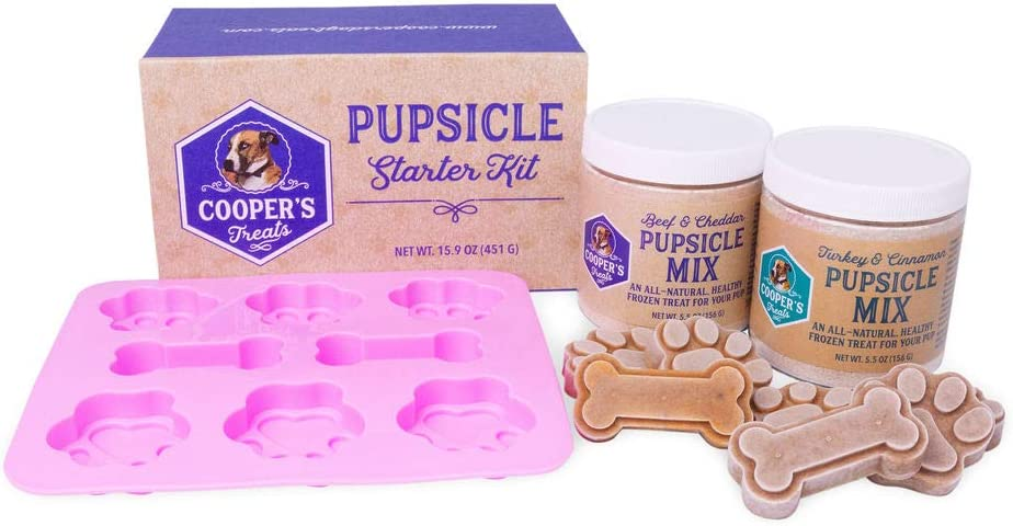 Cooper's Treats Pupsicle Starter Kit - Easy, Homemade Frozen Dog Treat Mix (Contains Two Jars of DIY Healthy Dog Treat Mix)