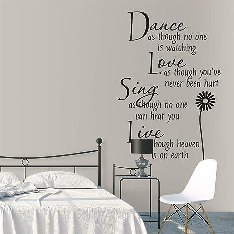Dance Like No Ones Quote Bedroom Home Décor Wall Art Sticker Vinyl Transfer