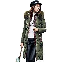 Gamery Women Winter Long Parkas Coat Jackets With Faux Fur Hood Plus Size