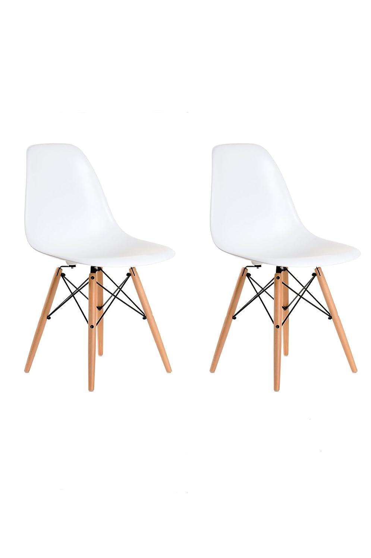 Aryana Home Eames Replik – Set Stühle, 51 x 46,5 x 81,5 cm 51x46.5x81.5 cm weiß
