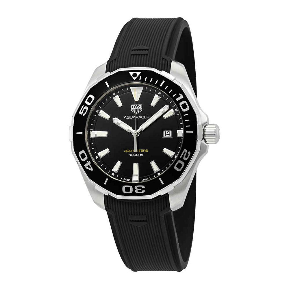 Amazon.com: Tag Heuer Aquaracer Black Sunray Dial Mens Watch WAY101A.FT6141: TAG Heuer: Watches
